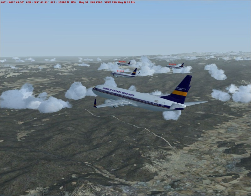 rapport du vol en formation en  737 de LEMD -----LFBG Patrou12