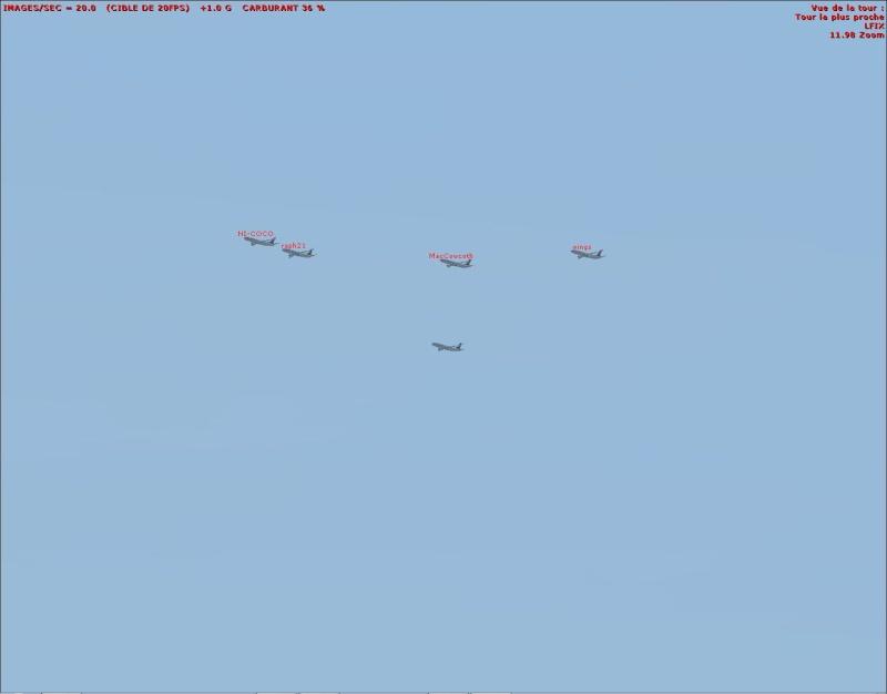 rapport du vol en formation en  737 de LEMD -----LFBG Patrou13