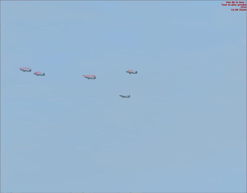 rapport du vol en formation en  737 de LEMD -----LFBG Patrou14