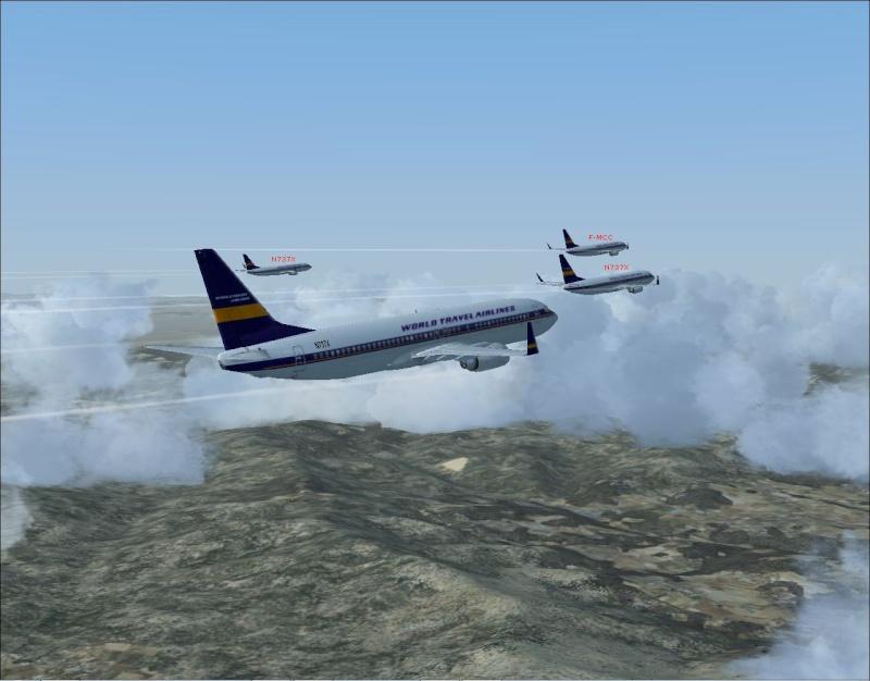 rapport du vol en formation en  737 de LEMD -----LFBG Patrou15