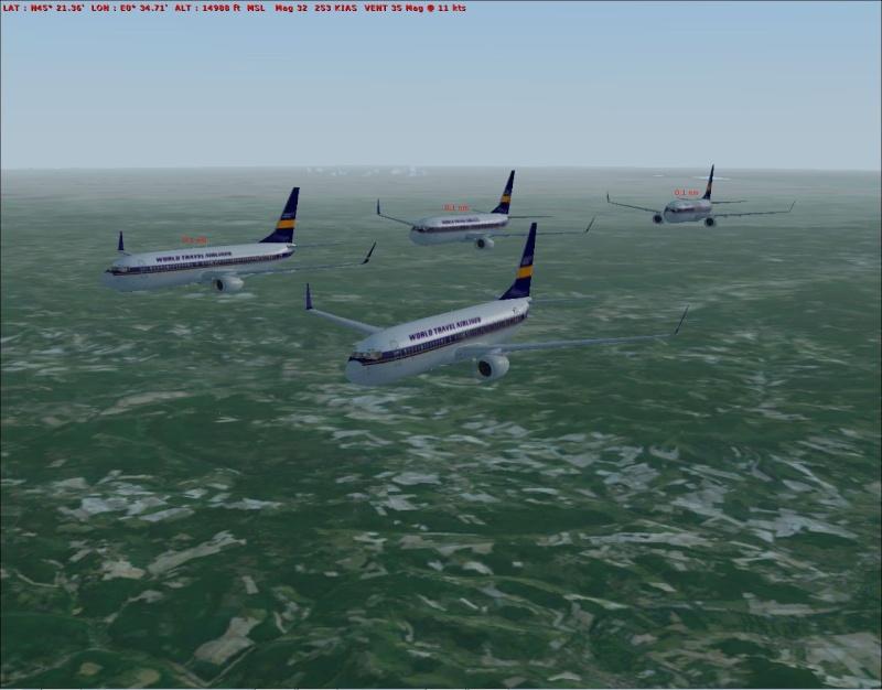 rapport du vol en formation en  737 de LEMD -----LFBG Patrou17