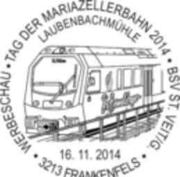 "Sonderpostamt in Frankenfels ( ""Himmelstreppe Mariazellerbahn"") Bild310"