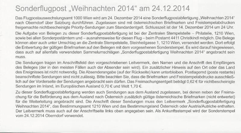 """Sonderflug """" Weihnachten"""" am 24.12. 2014 Sonder10"""