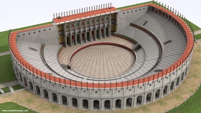 """Amphithéâtres romains : """"du pain et des jeux"""" Arc3a810"""