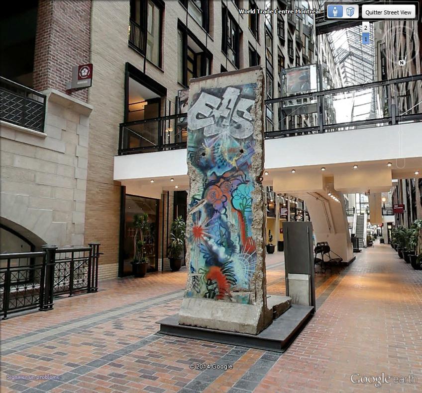 25ème anniversaire de la chute du Mur de Berlin : pans du Mur de Berlin disséminés sur la planète Berlin11