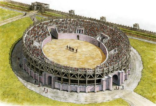 """Amphithéâtres romains : """"du pain et des jeux"""" Caerle11"""