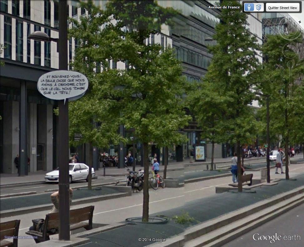 STREET VIEW : Un vrai festival de bulles dans la rue René Goscinny, à Paris Ciel_t10