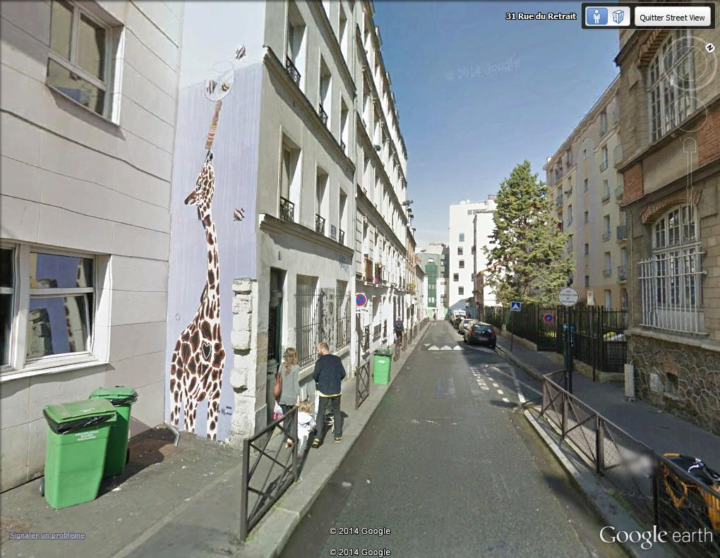 STREET VIEW : street art, grafs, tags et collages - Page 3 Girafe10