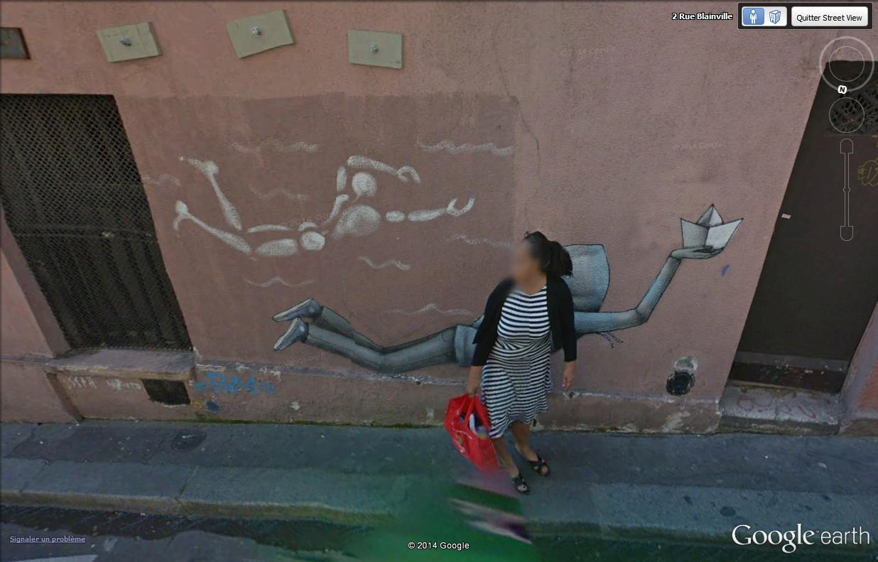 STREET VIEW : street art, grafs, tags et collages - Page 2 Nageur10