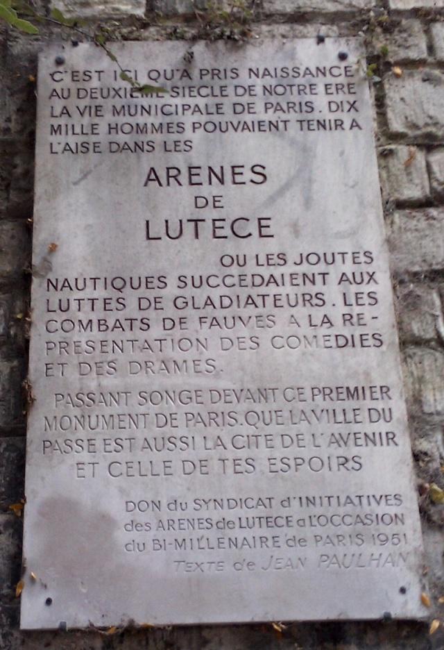 """Amphithéâtres romains : """"du pain et des jeux"""" Paris_10"""