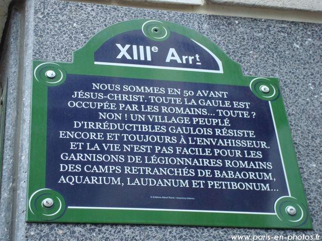 STREET VIEW : Un vrai festival de bulles dans la rue René Goscinny, à Paris Plaque11