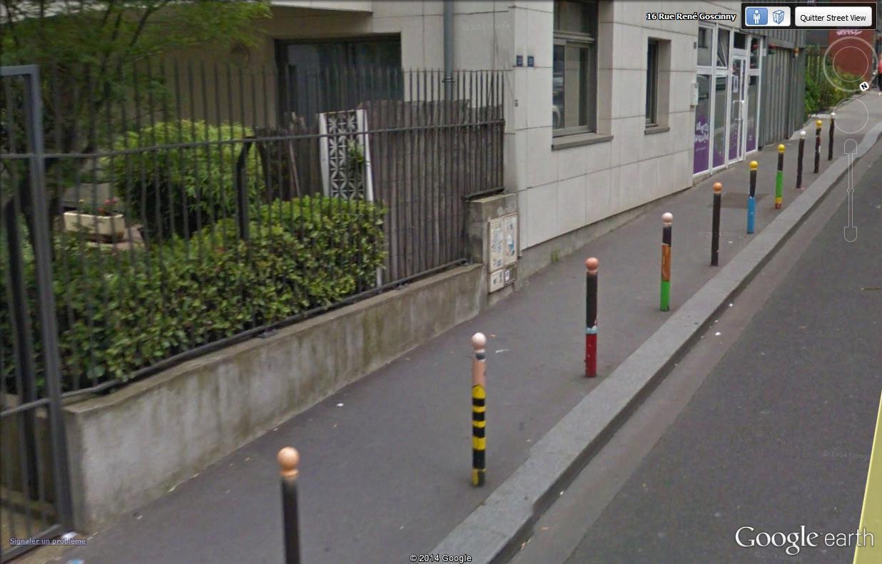 STREET VIEW : Un vrai festival de bulles dans la rue René Goscinny, à Paris Poteau10