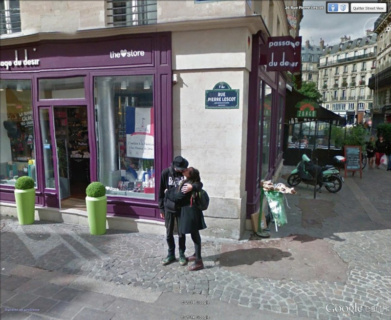 """STREET VIEW : embrassez-vous ... vous êtes photographiés ! (Répliques de la photo """"Le baiser de l'Hôtel de Ville"""" de Robert Doisneau) Rue_pi10"""