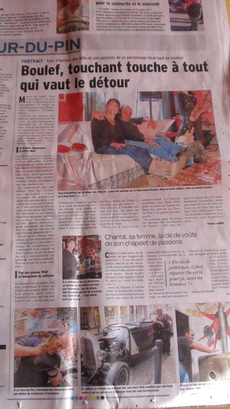 la une sur une page  complete du dauphine le dimanche matin Dsc01611