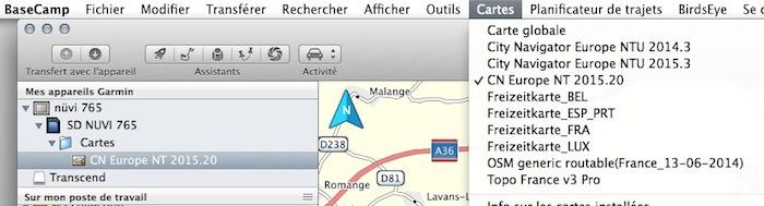 Comment afficher dans Basecamp la carte qui est dans mon GPS etrex 20 ?  [Résolu] Captur10