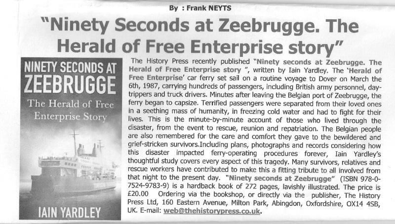 Le drame du Herald of Free Enterprise - Zeebrugge 6/03/1987 - Page 4 Herald10