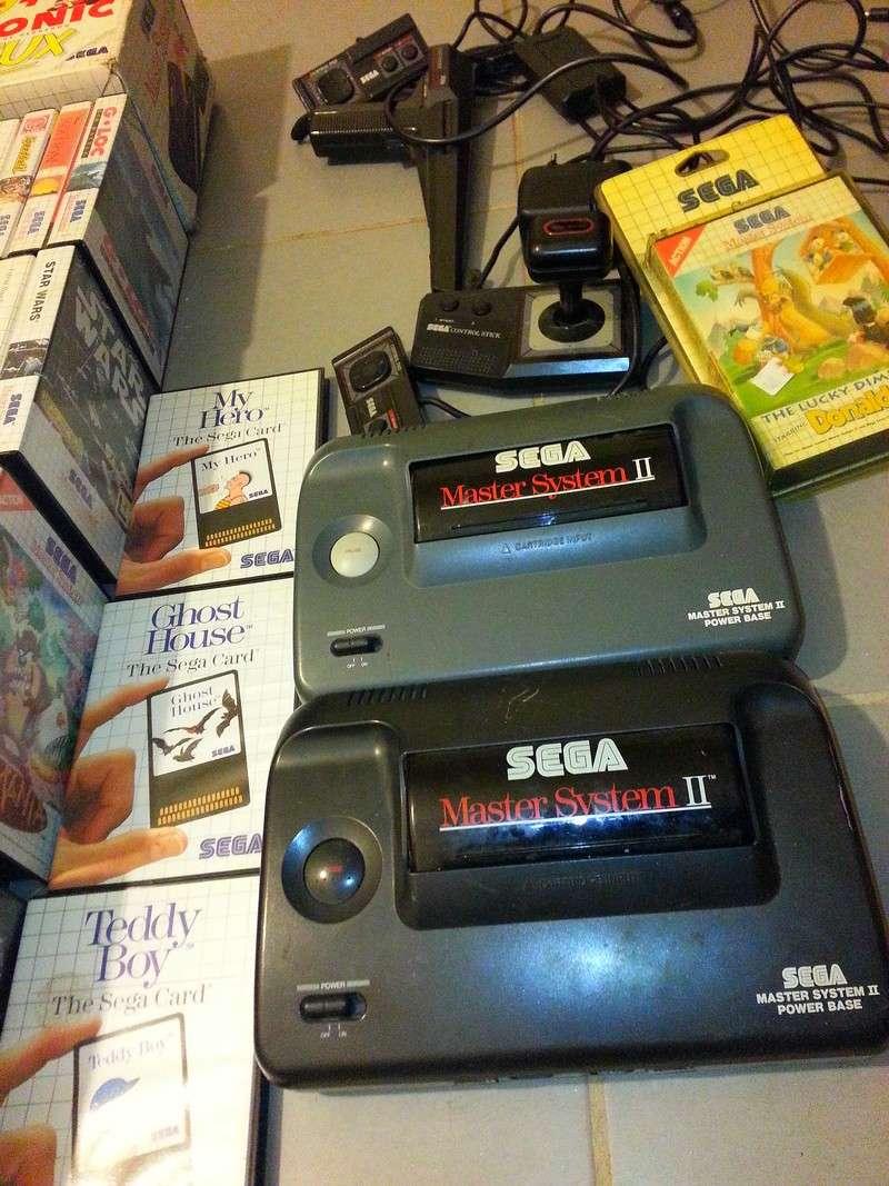3 consoles master system et 173 jeux + accessoires Master12