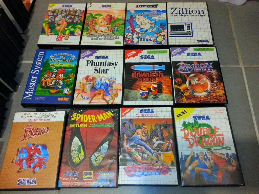 3 consoles master system et 173 jeux + accessoires Master13