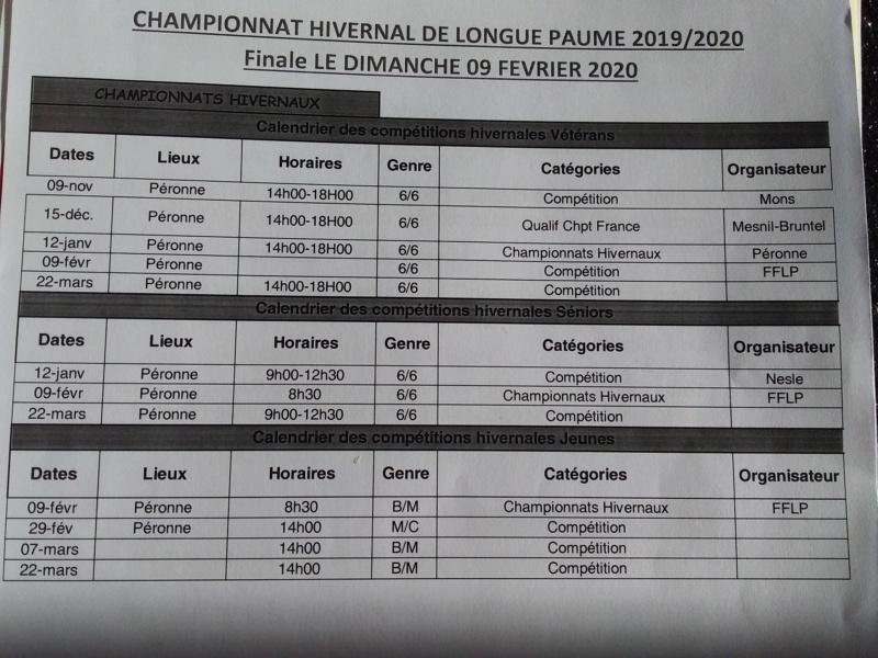 calendrier compétitions hivernales 2019-2020 20200110