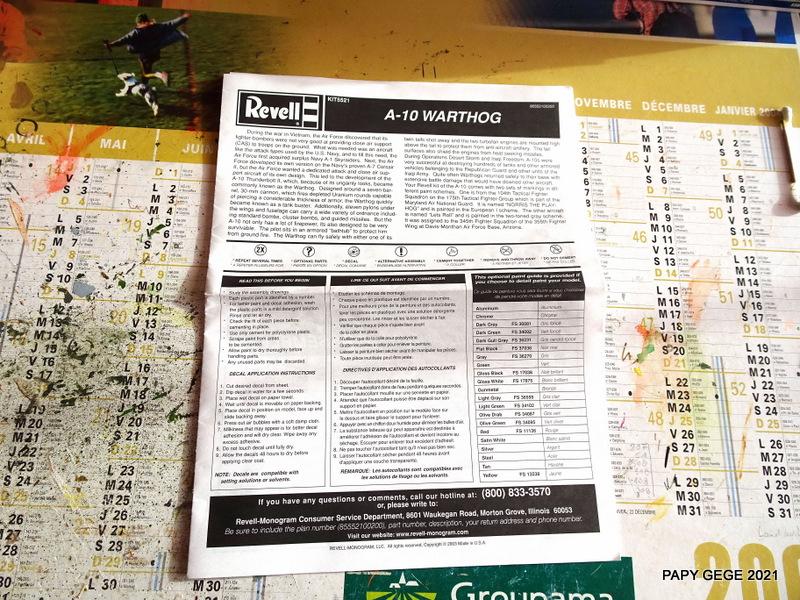 A 10 WARTHOG au 1/48 ( REVELL) A10-0210