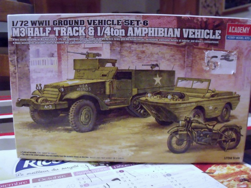 ACADEMY M3 HALFTRACK et 1/4 ton amphibian vehicule 1/72  Half_010