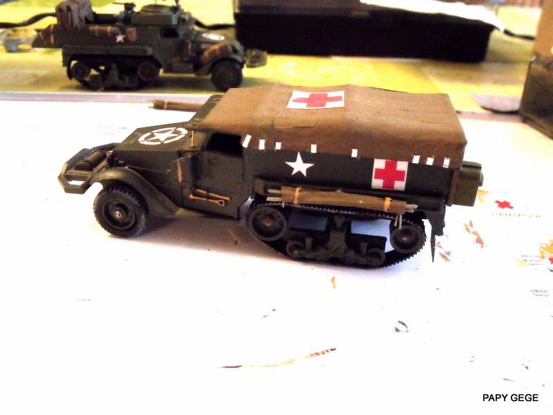 HALF-TRACK M3 TRANSPORT DE TROUPE au 1/50 + M3 AMBULANCE - Page 2 Half_s16