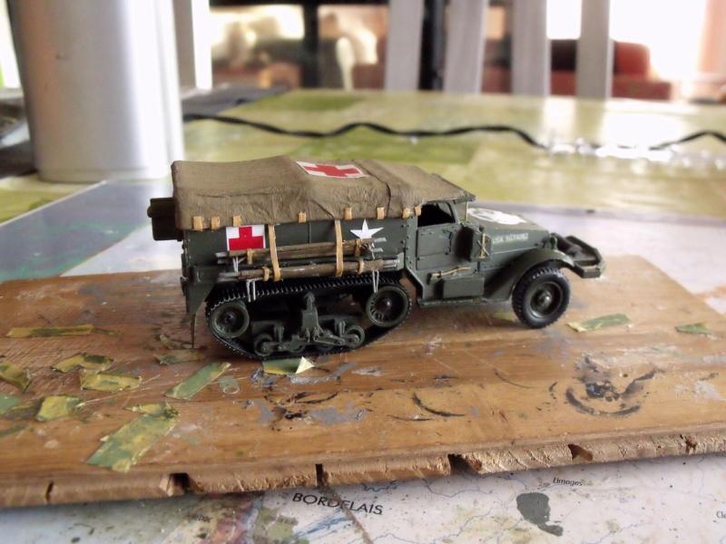 HALF-TRACK M3 TRANSPORT DE TROUPE au 1/50 + M3 AMBULANCE - Page 2 Half_s19