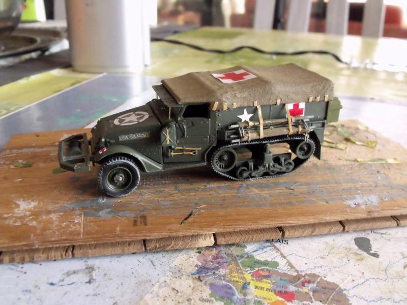 HALF-TRACK M3 TRANSPORT DE TROUPE au 1/50 + M3 AMBULANCE - Page 2 Half_s21