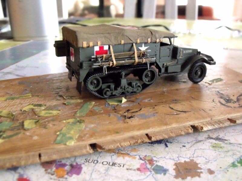 HALF-TRACK M3 TRANSPORT DE TROUPE au 1/50 + M3 AMBULANCE - Page 2 Half_s22