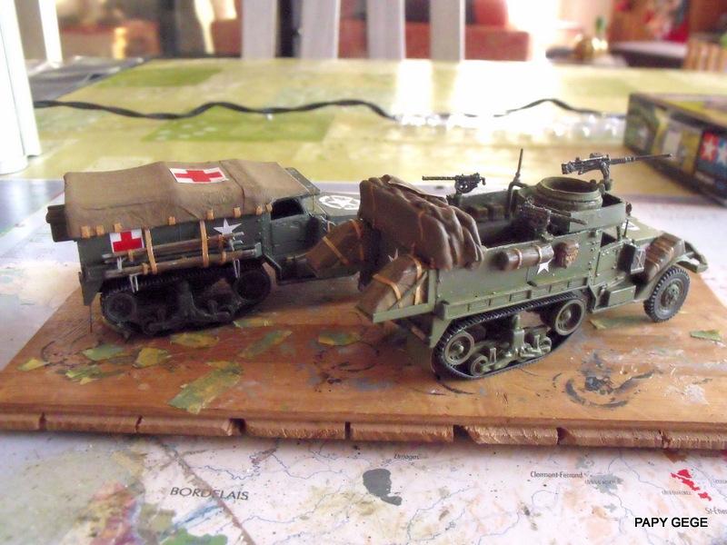 HALF-TRACK M3 TRANSPORT DE TROUPE au 1/50 + M3 AMBULANCE - Page 2 Half_s23