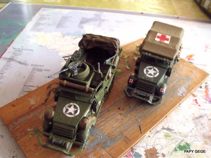 HALF-TRACK M3 TRANSPORT DE TROUPE au 1/50 + M3 AMBULANCE Half_s24