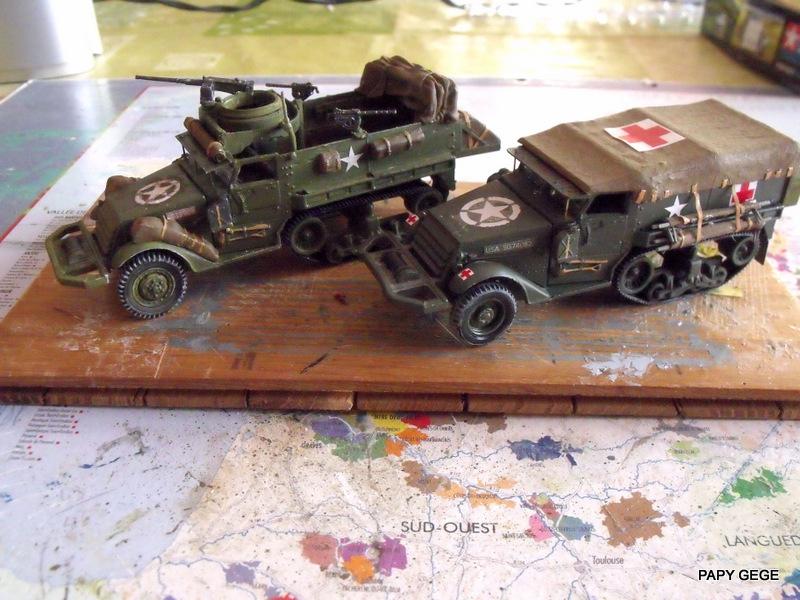 HALF-TRACK M3 TRANSPORT DE TROUPE au 1/50 + M3 AMBULANCE Half_s25