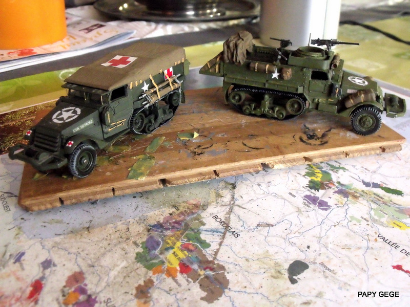 HALF-TRACK M3 TRANSPORT DE TROUPE au 1/50 + M3 AMBULANCE - Page 2 Half_s28