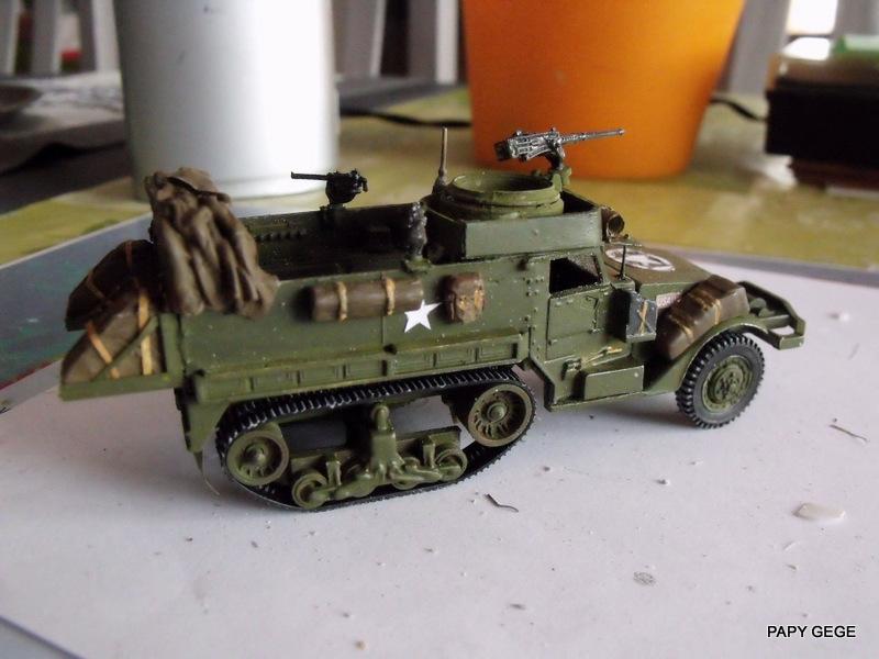 HALF-TRACK M3 TRANSPORT DE TROUPE au 1/50 + M3 AMBULANCE Half_t11