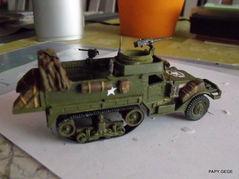 HALF-TRACK M3 TRANSPORT DE TROUPE au 1/50 + M3 AMBULANCE Half_t14