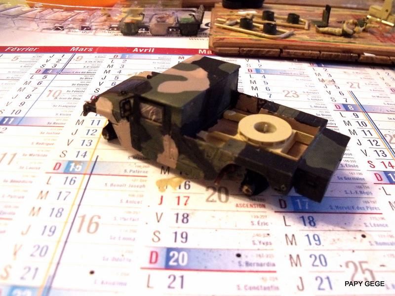 HUMVEE AVENGER au 1/48 base Tamiya Humave32
