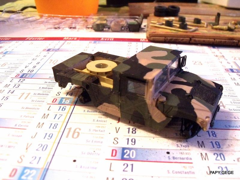 HUMVEE AVENGER au 1/48 base Tamiya Humave34