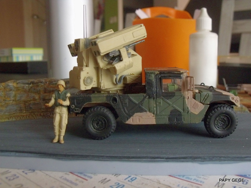 HUMVEE AVENGER au 1/48 base Tamiya Humave42