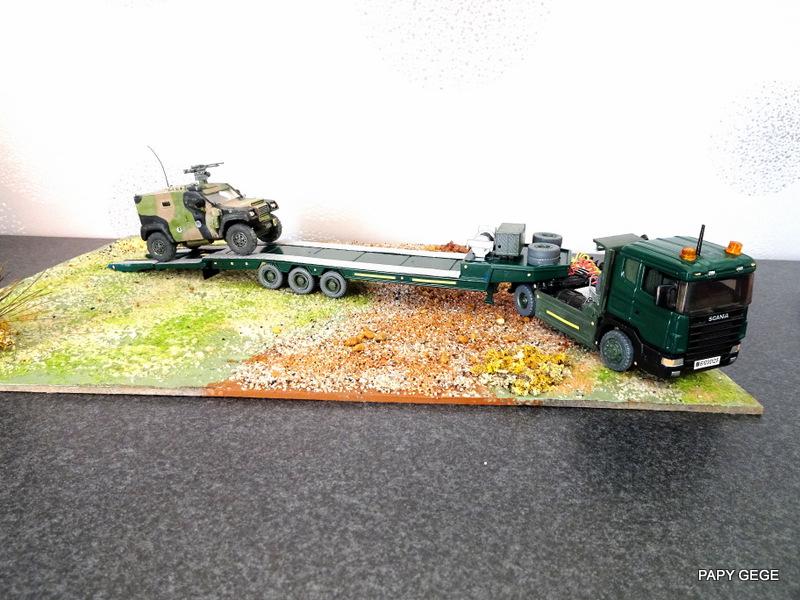 SCANIA PORTE CHAR base Teama au 1/50 Scani101