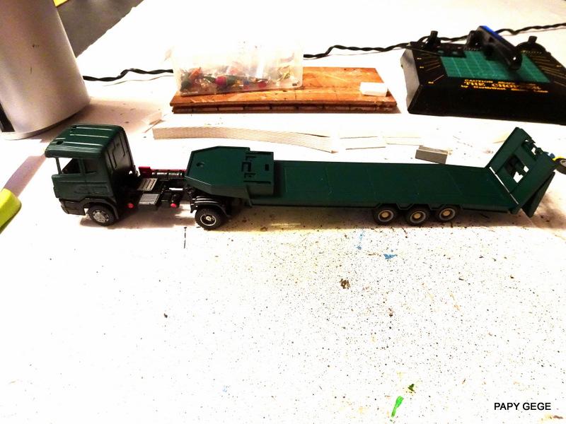 SCANIA PORTE CHAR base Teama au 1/50 Scania70