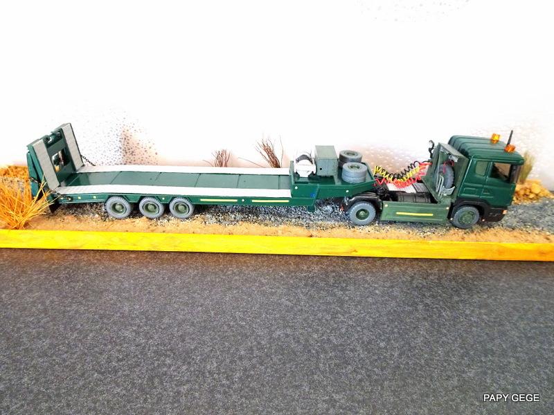 SCANIA PORTE CHAR base Teama au 1/50 Scania95