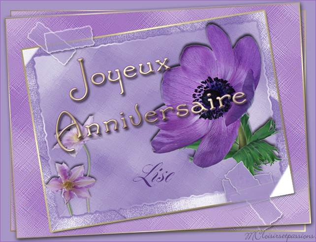 JOYEUX ANNIVERSAIRE MC-LISE 81604710