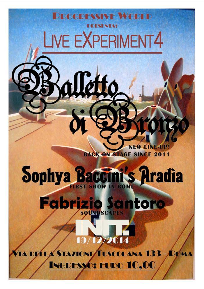 ...arriva l'evento di Dicembre...Balletto di Bronzo Live in Roma 19/12/2014 - INIT Att010