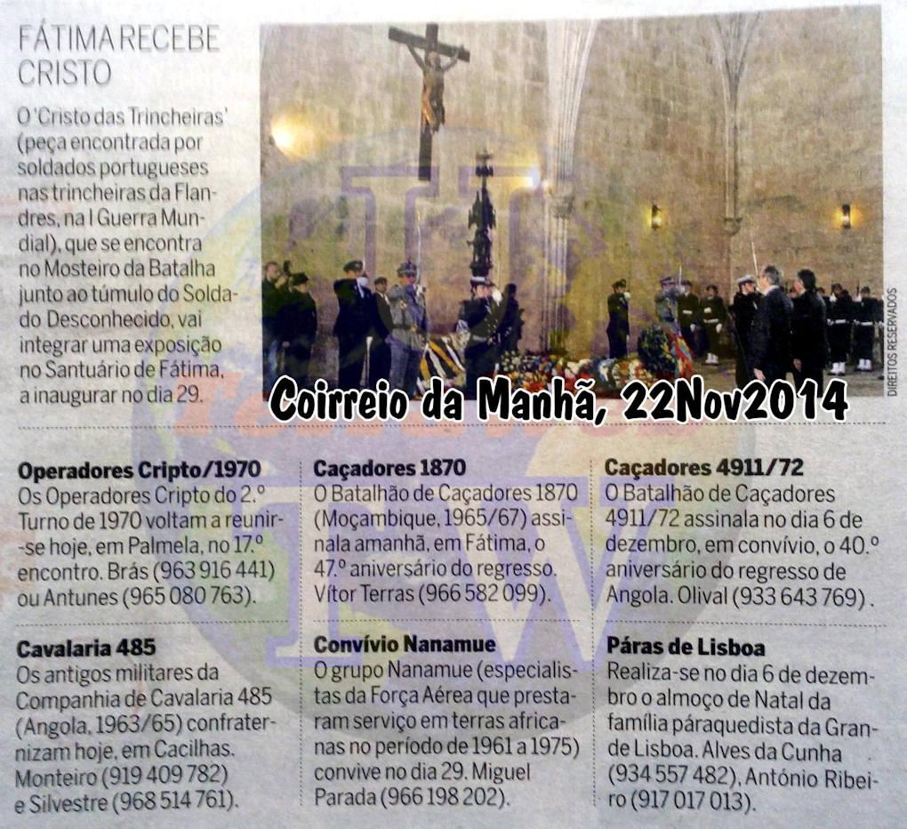 Encontros Convívios de ex-Militares Portugueses, in Correio da Manhã, de 22Nov2014 Encont10
