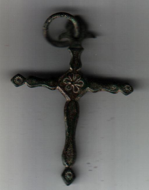 Croix briançonnaise. H=50mm. Cuivre. A1011