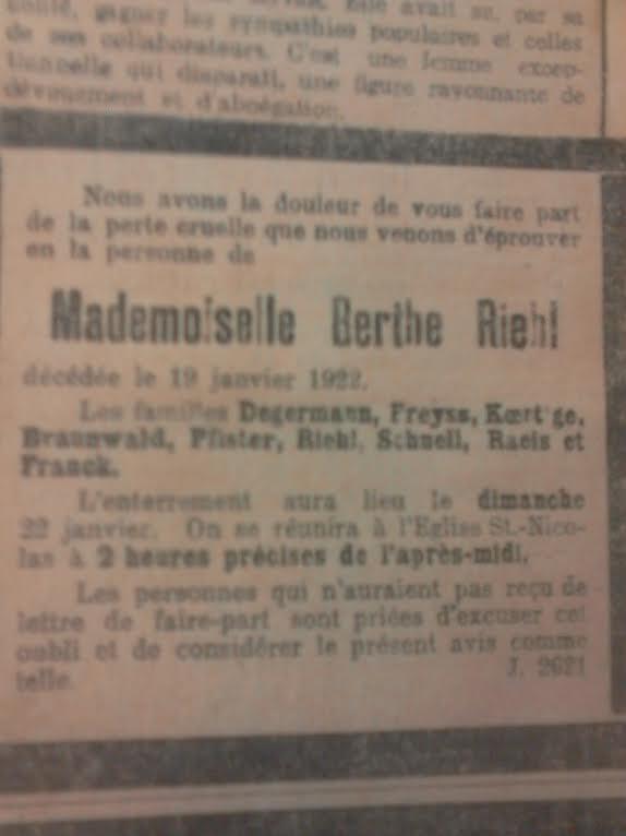 Berthe RIEHL (1858-1922) professeur et héroïne pour services rendus de 1870 à 1914 Unname17
