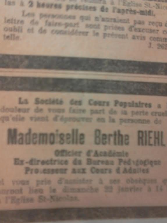 Berthe RIEHL (1858-1922) professeur et héroïne pour services rendus de 1870 à 1914 Unname18