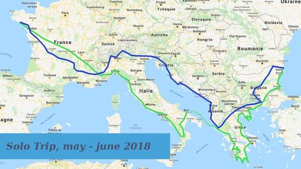 Boucle printanière, de l'Atlantique à la Mer Noire en 2018 Solo_e10