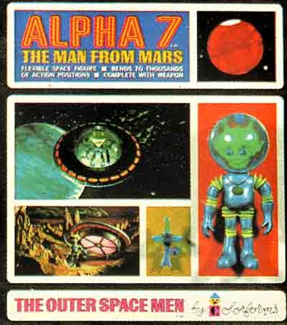 THE OUTER SPACE MEN (Colorforms) 1969 0113