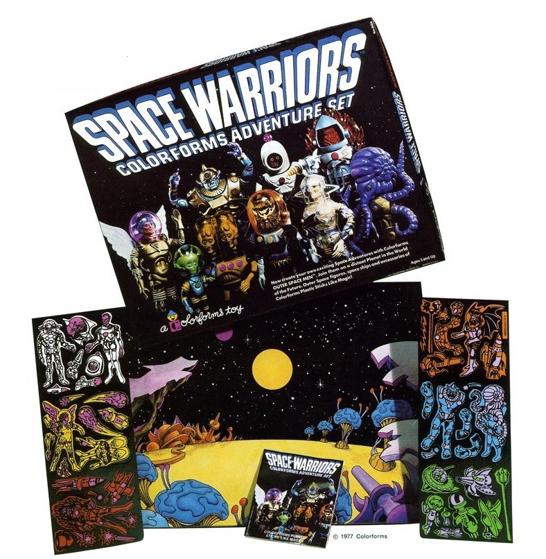 THE OUTER SPACE MEN (Colorforms) 1969 1012